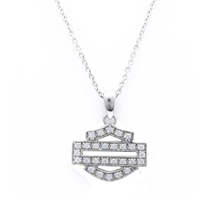 Bar & Shield Bling Outline Necklace