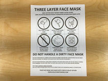 Load image into Gallery viewer, 3 Layer Face Mask - Large