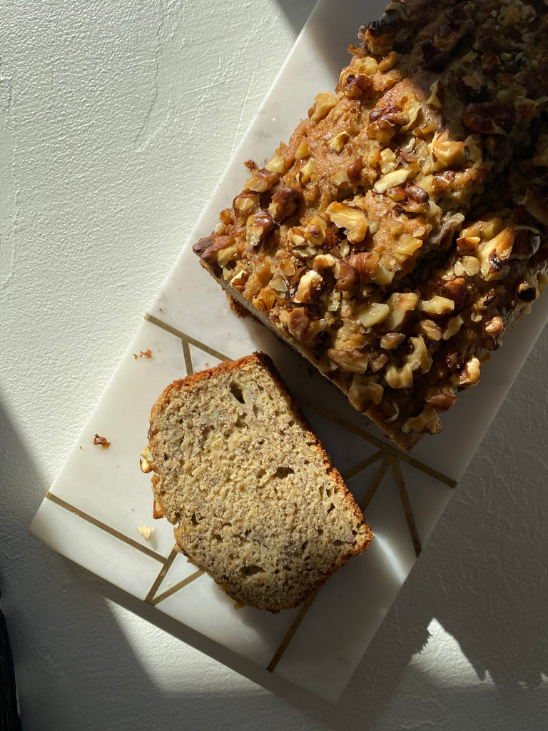 GOLDEN BANANA WALNUT BREAD RECIPE