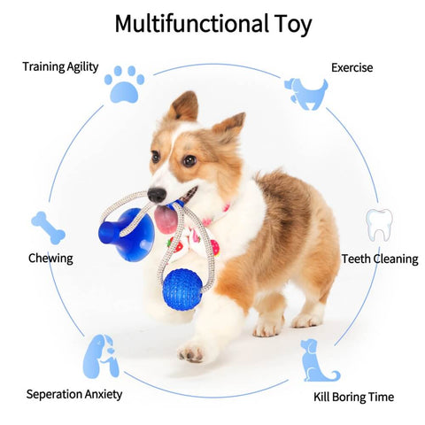 Rubber Chew Ball Toy For Pet