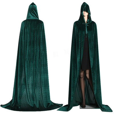Mideval Hooded Wicca Cloak