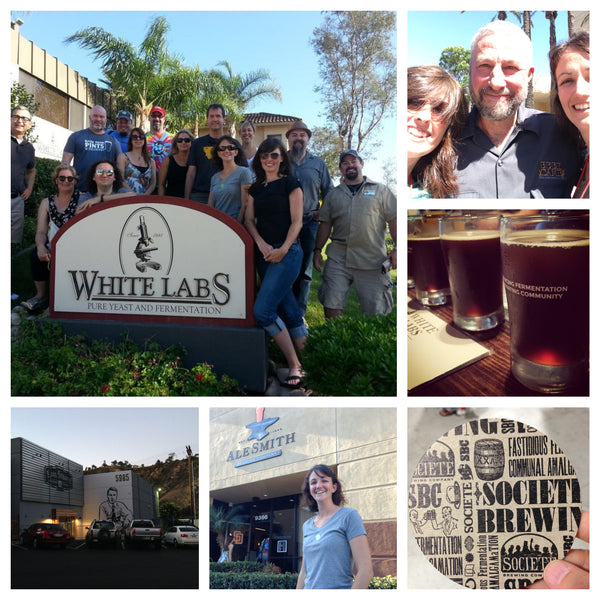 Snapshots of the Craft Beer Hound team at the 2014 Beer Bloggers Conference in San Diego
