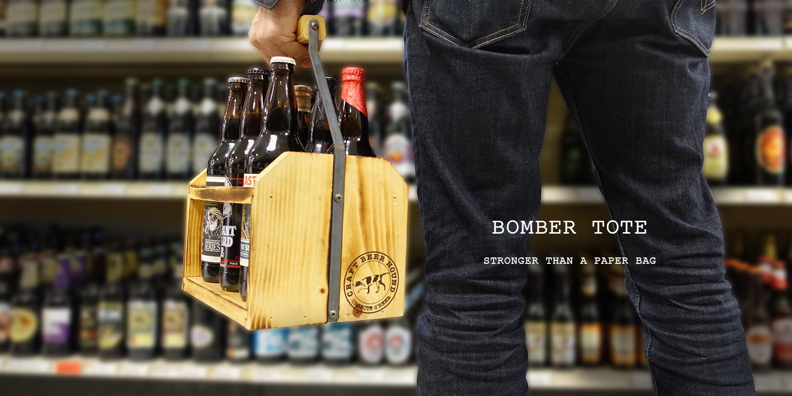 Bomber Tote Beer Carrier