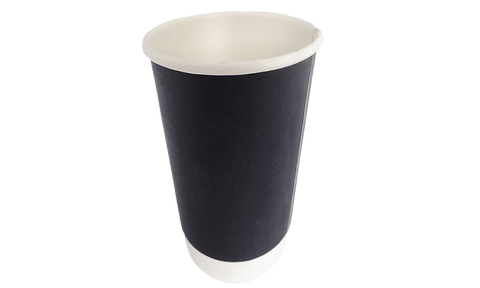 16oz Black Double Wall Coffee Cups (500pcs)