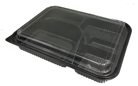 Japanese 6-Compartment Bento Boxes with Lid (100set)