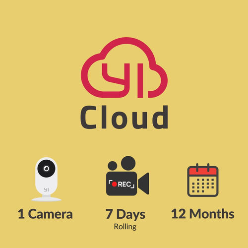 YI Cloud - 1 camera – 7 days rolling – 12 months