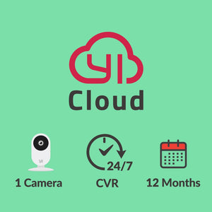 YI Cloud - 1 camera – 24/7 CVR – 12 months