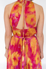 Load image into Gallery viewer, BEATRICE WATERCOLOUR PRINT PLEATED DRESS