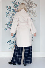 Load image into Gallery viewer, Ecru Double Breasted Tie Belt Coat