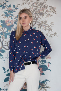 Flower Pot Print Casual Shirt