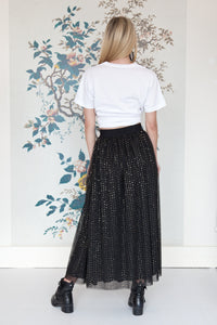 Double Layered Tulle & Sequin Skirt