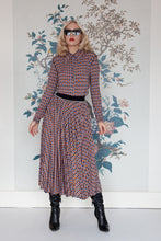 Load image into Gallery viewer, Geometric Print Pleated Skirt