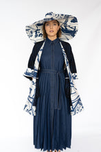 Load image into Gallery viewer, BEATRICE DENIM-LOOK PLEATED DRESS
