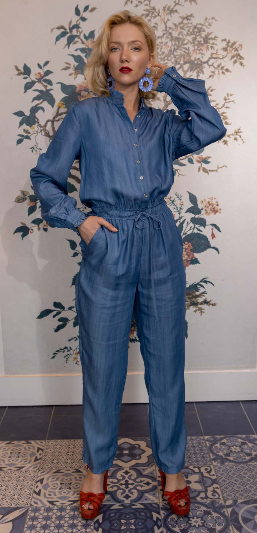 Denim Cotton Jumpsuit