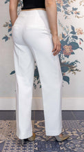 Load image into Gallery viewer, White Wide Leg  Suit Trousers