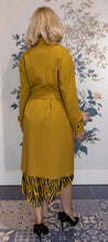 Load image into Gallery viewer, Mustard Gaberdine Belted Mac Coat