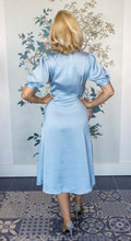 Load image into Gallery viewer, Baby Blue Button Front Midi Dress