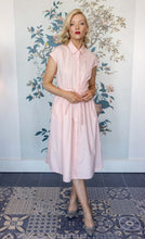 Load image into Gallery viewer, Candy Pink Button Through  Cotton Shirt Dress