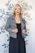 Load image into Gallery viewer, Grey Classic Biker Jacket