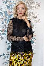 Load image into Gallery viewer, Lace Black Double Layered Top