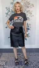 Load image into Gallery viewer, Black Leather Pencil Skirt
