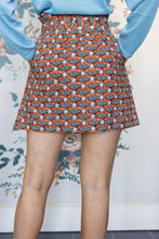 Load image into Gallery viewer, High Waisted Mini Skirt in Fish Print