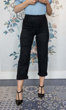 Load image into Gallery viewer, Black  Wide Leg Jeans