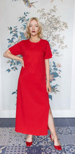 Load image into Gallery viewer, Red T-Shirt Dress
