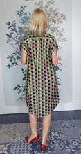 Load image into Gallery viewer, Pink, Green, Black Circle Print Shift Dress/Tunic