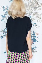 Load image into Gallery viewer, Short Black Crepe Tunic Top