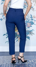 Load image into Gallery viewer, Navy High Waist Straight Suit Trouser