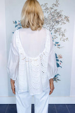 Load image into Gallery viewer, White Broderie Anglaise Pussy Bow Blouse