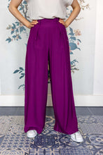 Load image into Gallery viewer, Ultra Violet Viscose Palazzo Trousers