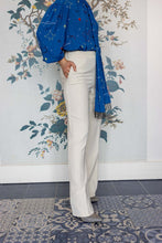Load image into Gallery viewer, Cream Long Leg Palazzo Trousers