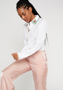 Wild Pony White Blouse with Embroidery