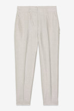 Load image into Gallery viewer, Ottod'ame silver linen blend cigarette trousers