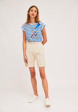 Load image into Gallery viewer, Compania Fañtastica Blue Stripe T-shirt