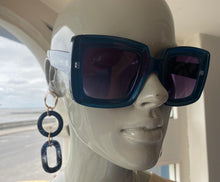 Load image into Gallery viewer, Nali Blue Square Sunglasses