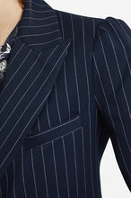 Load image into Gallery viewer, Navy Pinstripe Blazer