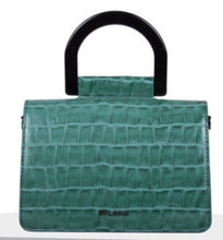Load image into Gallery viewer, Emerald Green Croc Crossbody Bag