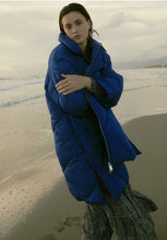 Load image into Gallery viewer, Electric Blue Puffa Coat