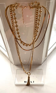 Gold Chain Layered Necklace
