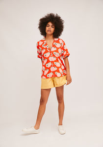 Compania Fantastica  Orange Bowling Shirt