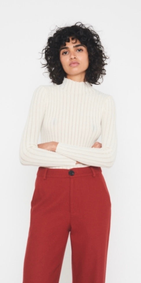 Cream Fine Knit Jumper