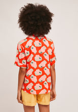 Load image into Gallery viewer, Compania Fantastica  Orange Bowling Shirt