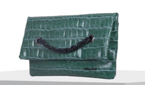 Green Croc Clutch Bag