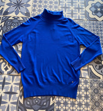 Load image into Gallery viewer, Royal Blue Fine Knit Polo-neck Jumper