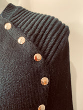 Load image into Gallery viewer, Black Cape with Gold stud buttons