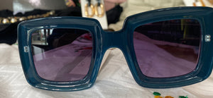 Nali Blue Square Sunglasses