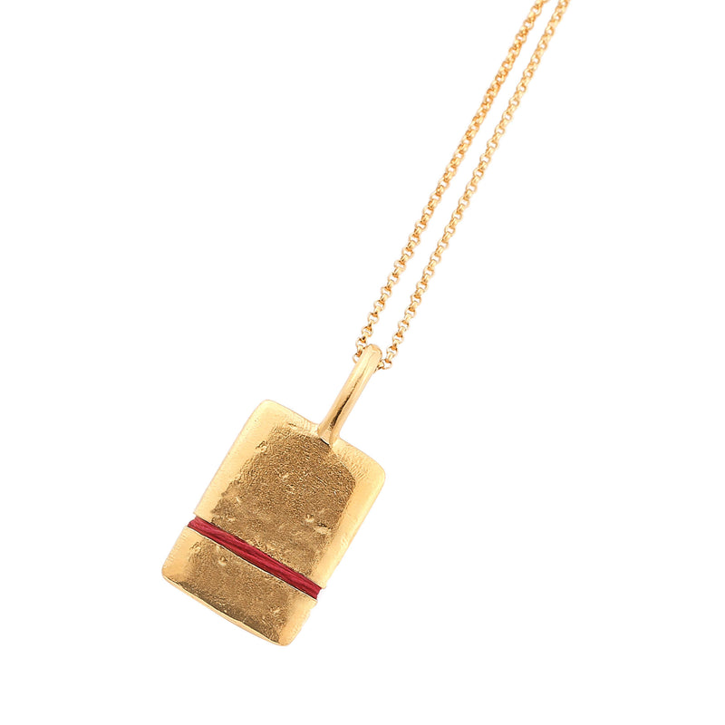 Thousand Fibres Midi True Reflection Necklace Ruby-Red